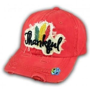 """4350 District Red """"Thankful"""" Hat"""